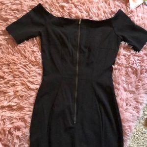 H&M Dresses - Black midi off shoulder dress
